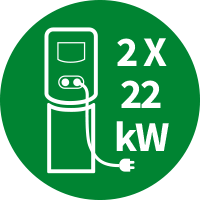 - DriWe Charger - 2x22kW