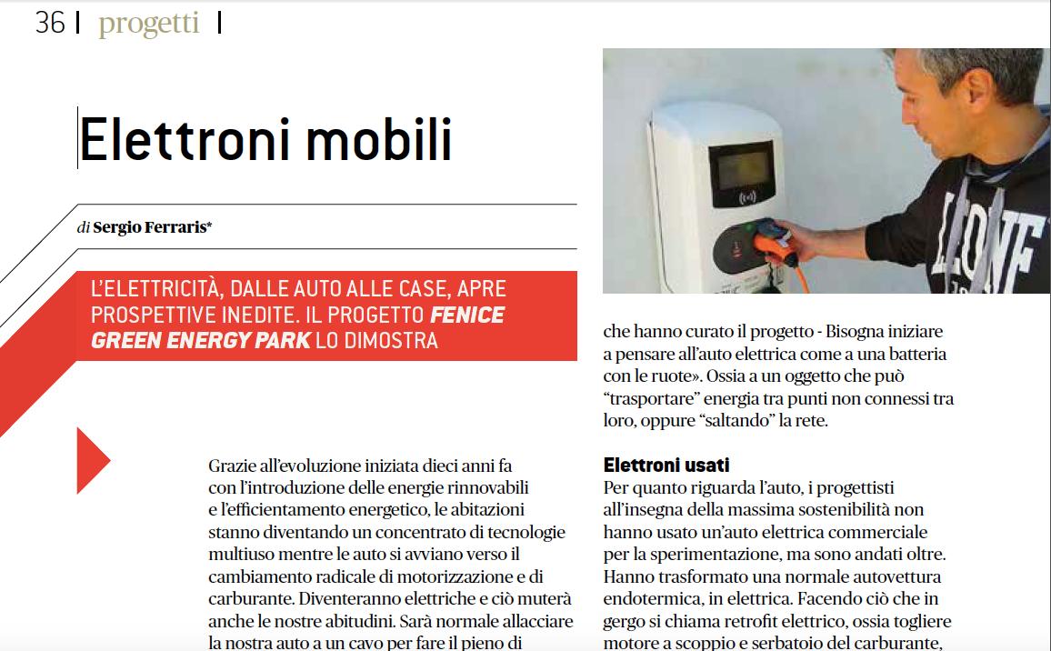 Leggi l'articolo: Elettroni mobili – QualEnergia/Novembre 2018    …