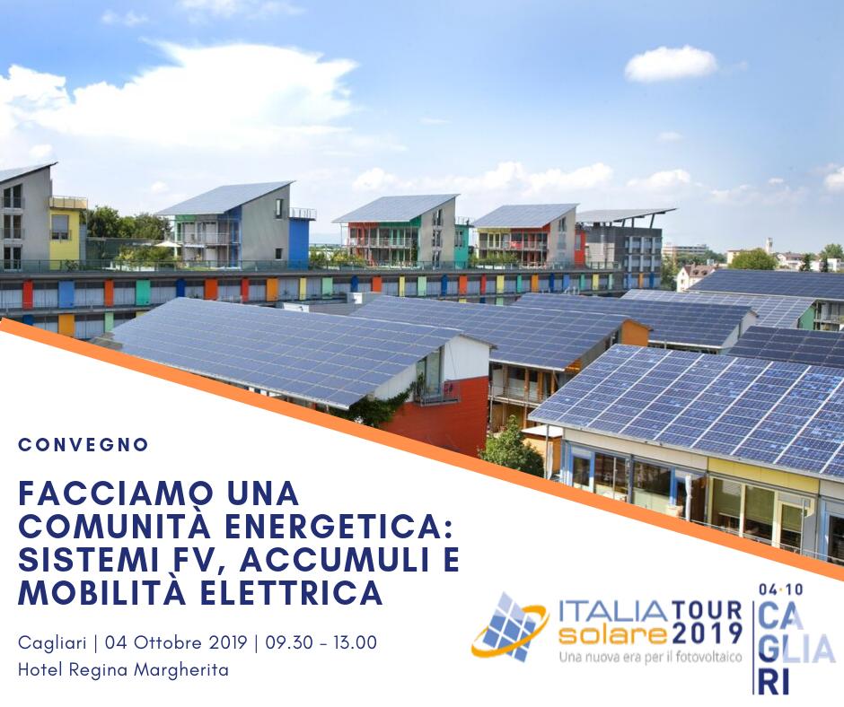 """Al convegno """"Facciamo una comunità energetica"""" a Cagliari interviene anche il nostro CEO Luca Secco sul tema comunità energetiche ed e-mobility.  …"""